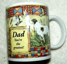 New! Dad you're the greatest! English Pointer dog Coffee mug cup Susan Winget