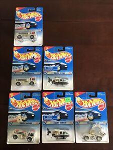 1994 Mattel Hot Wheels Silver Series Lot Of 6 Fire Eater Chopper Rodzilla NOS