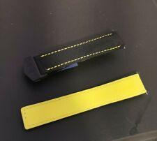 TAG Heuer Aquaracer black yellow  Men's 21mm nylon  Band / w/Pins Exceptional