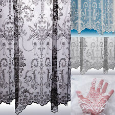 Victoria Net Curtains ~ Boutique Damask Design ~ Sold By The Metre ~ Lace Voile