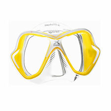 Mares X-Vision Ultra Liquidskin Scuba Diving Snorkeling Mask Yellow/Clear