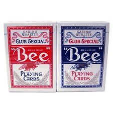 Wholesale lot - Brand New 10 Decks of BEE playing cards 5 Red and 5 Blue