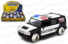 12 Pack of Police Hummer H2 SUV Die-cast Car 1:32 Jada Toys 5 inch Chrome Rims