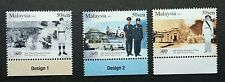 200 Years Police Force Malaysia 2007 Uniform Car Army (stamp with plate) MNH