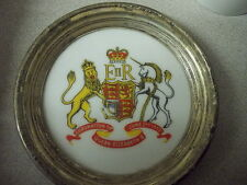 Coronation of Queen Elizabeth II Coaster - Sterling Edged