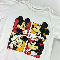 VTG Mickey Mouse Men's Disney Single Stitch T-Shirt White • Medium