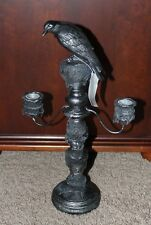 Yankee Candle Spellbound Raven Candelabra Taper Candle Holder~ NWT~Halloween~