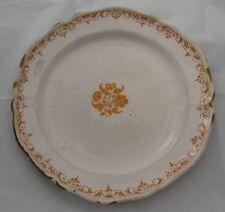 2196* assiette en faience de moustiers décor floral ocre 18eme siecle