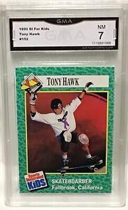 1990 SI For Kids TONY HAWK Rookie Card #152 GMA 7 Near Mint X-Games Nice RC