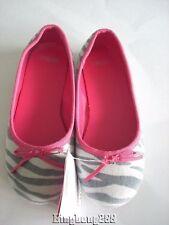 Gymboree CLASSROOM KITTY Gray Kitty Print Flats Shoes Girl Size 12 NWT - Fall