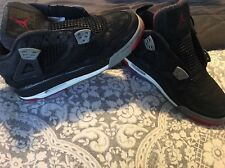 1999  AIR JORDAN Retro IV 4 134084-001 Black Cement Grey Red BRED size 6