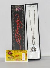 Genuine Ed Hardy Unisex Love Kills Slowly Pendant Necklace Chain Certificate B10