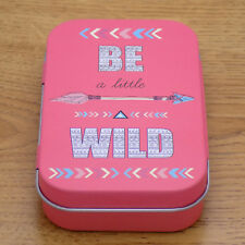 Metal Cigar Cigarette Pocket Box Holder Tobacco Storage Pink Case Be Wild Аrrow