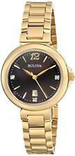 Bulova Women's 97P107 Diamond Gallery Analog Display Quartz Yellow Watch