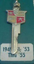 DESOTO Conquistador Logo AUTOGRAM KEY blank, fit all 1949-1951, 1953-1955 NOS