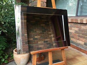 Decorative Wall Mirror Chrome silver Wood Frame 77cm x 57cm