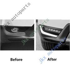 2x Deluxe 5-LED DRL Lights+ Fog Lamp Bezel Turn Signal j For Honda CRV 17-18
