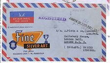 S270 1966 Pakistan London GB Cover Air Mail Registered {samwells-covers}PTS