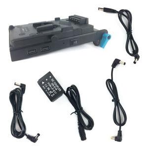 V-lock V mount Power Plate + DR-E18 Dummy Battery + Rod Clamp for Canon LP-E17