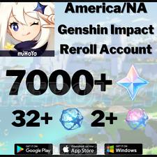 [America/NA] [Instant] Genshin Impact Primogems Fate Reroll Starter Account