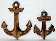 Nautical Wooden Anchor Wall Hanging Handmade Vintage Ship Sailboat Maritime Deco