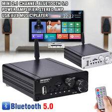 1*Mini 2.1 Channel Bluetooth 5.0 Power Amplifier HiFi Stereo Audio Subwoofer Amp