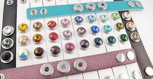 Click Snap Druckknöpfe Chunk Knopf SWAROVSKI ® Kristall 12mm und 18mm Druckknopf