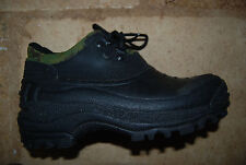 Heavy Black Rubber w/Camo Trim WEATHER SPIRITS Laced Waterproof Boots 5