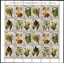 Vatikan 1992 Zdr.-Sechserblock Nr.1064 - 1069 ** postfrisch Pflanzen Bogenware