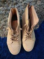 VANS 721356 Skate High Shoes 27.5cm Beige Pink Leather Size US 10 Sneaker clean
