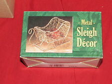 Metal Sleigh Decor 5 inches MIB Nice for candy/small items