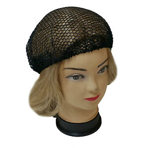 2 PCS Black Nets with Elastic Bands Hair Nets snood wig cap mesh new cosplay