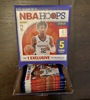 2020-21 NBA Hoops Basketball Gravity Box!! 43 Sealed Packs 5 Cards Per Pack