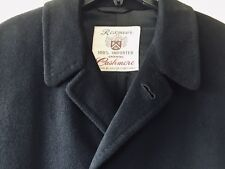 VTG Union Made 100% Cashmere Overcoat Men's Topcoat Single Breasted Coat MINT!