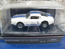 AW AFX 50 YEAR WHITE/BLUE STRIPE FORD SHELBY GT NEW IN CUBE HO SLOT CAR IN CUBE