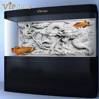 Dragon Cameo PVC Aquarium Background Poster 3D Fish Tank Decorations Landscape