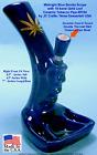 Smoke Scope Gold Leaf Water Hookah Bong Tobacco Pipe BLUE Ceramic Glass 0764-BLU