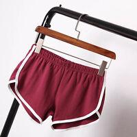 Women Yoga Sports Gym Workout Skinny High Waist Shorts Pants Training Sportswear