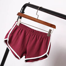 Womens Summer Hot Pants Running Shorts Elastic Slim Beach Sports Yoga Gym Shorts