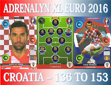 PANINI ADRENALYN XL UEFA EURO 2016 - CHOOSE YOUR CROATIA TEAM CARDS 136 TO 153