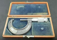 Brown And Sharpe Micrometer 1 2 0001 Machinist Tool With Box 07