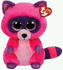 TY PELUCHE ROXIE PROCIONE Raccoon Plush Pupazzo Portachiavi Keychain Beanie Toy