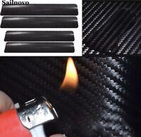 Universal Car Door Sill Scuff Pedal Protect Carbon Fiber Protector Stickers 4PCS