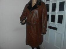 Ladies Brown Leather Long Coat Winter Jacket '' SIRELA '' Size: REG. / 5*****