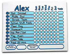 Chore Chart works like Dry Erase Board, Set Goal Reward, Your Name and Color