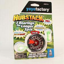 YoYoFactory Hubstack Yo-Yo - Red and Black