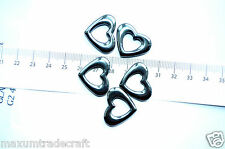 5 piezas Corazón Negro Encanto Colgante de cuentas de hematita Aprox 25 X 21mm