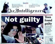 Michael Jackson Newspaper The Intelligencer Not Guilty 2005 MJ Thriller Pop King