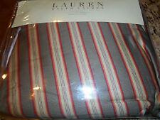 New Ralph Lauren King Bedskirt - Cape Catherine Stripe Tobacco