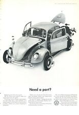 """1965 VW Volkswagen """"Need a Part?"""" PRINT AD"""